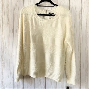 🌼 3 for $35 NWT Soft Lace Back Striped Sweater W1